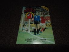 Bristol City v Arsenal, 1979/80